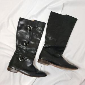 Frye Paige Tall Triple Buckle Black Boots 10